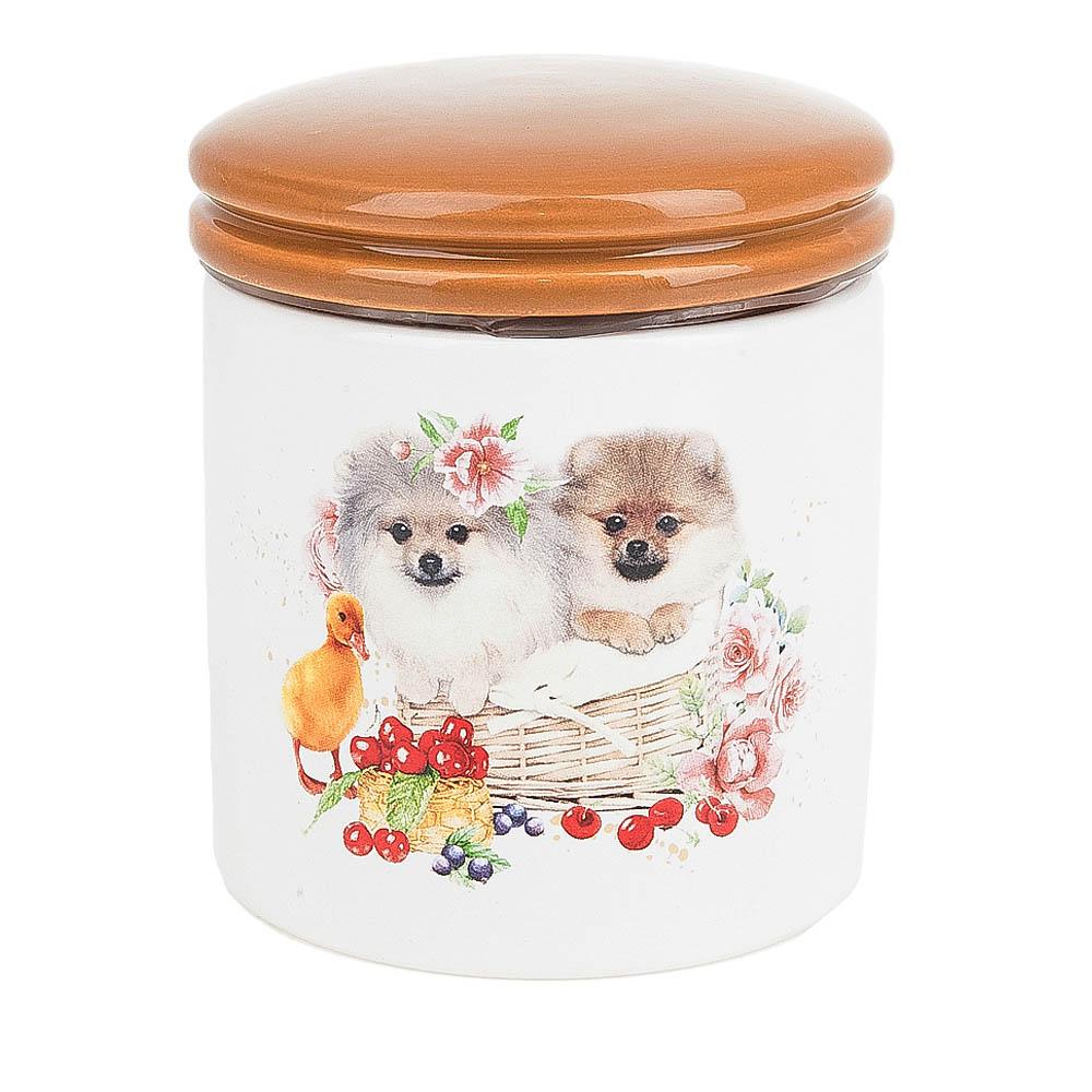 Купить Хранение продуктов Polystar, Банка для сыпучих продуктов Мимимишки (10х12 см), Китай, Бежевый, Керамика