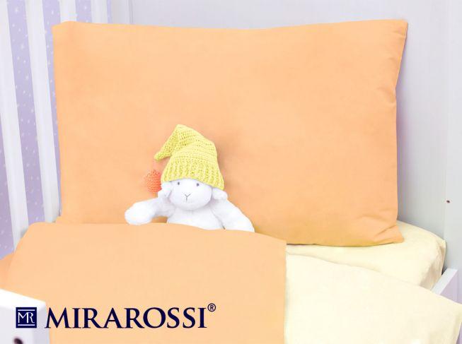 Купить Детское постельное белье MIRAROSSI, Детское Постельное белье Peach (115х147 см), Россия, Желтый, Оранжевый, Хлопковый трикотаж