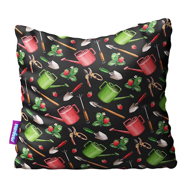 Декоративная подушка Сад Огород Цвет: Черный (29х29) фото