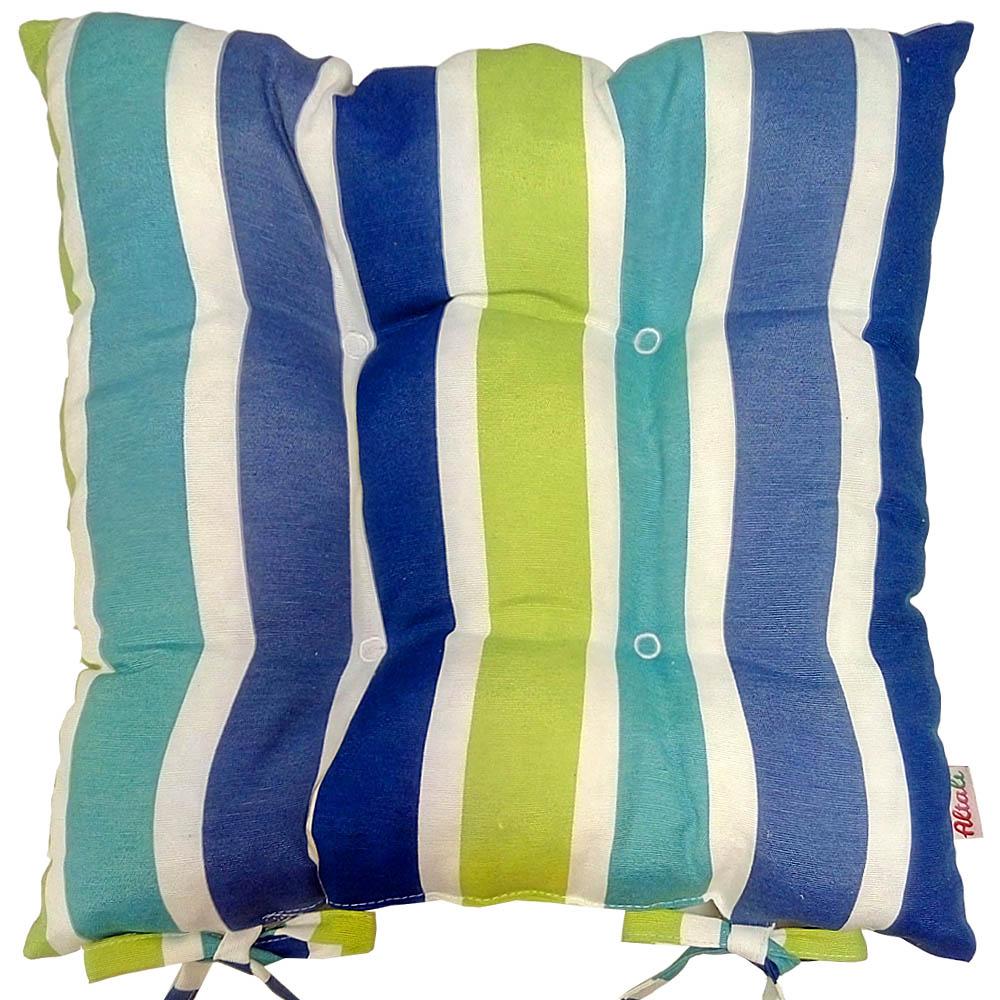 Купить Декоративные подушки Apolena, Подушка на стул Sabrina Royal (40х40), Россия-Турция, Голубой, Зеленый, Синий, Поликоттон