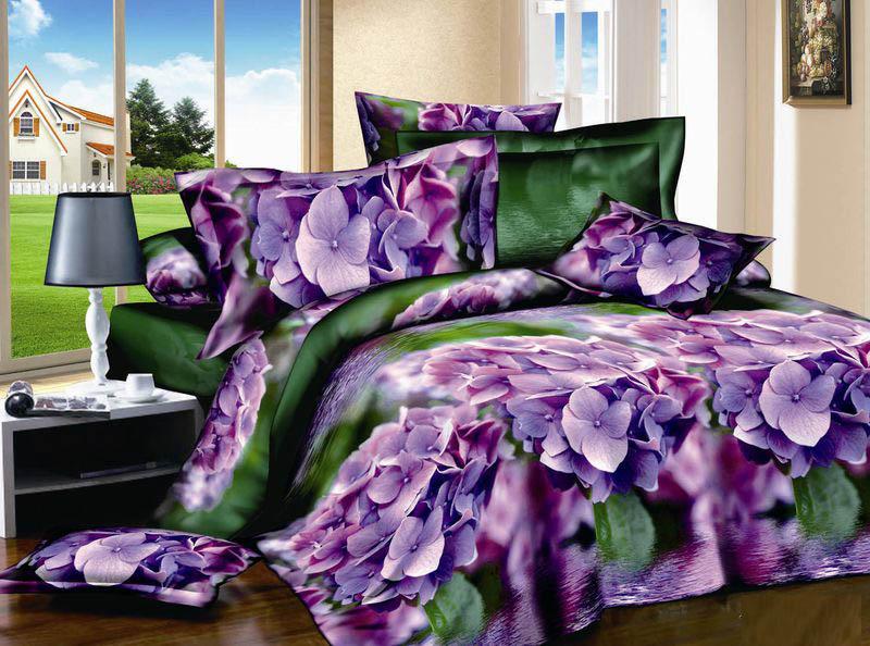 Купить Комплекты постельного белья Tango, Постельное бельеLorina(2 спал.), Китай, Зеленый, Сиреневый, Фиолетовый, Хлопковый сатин