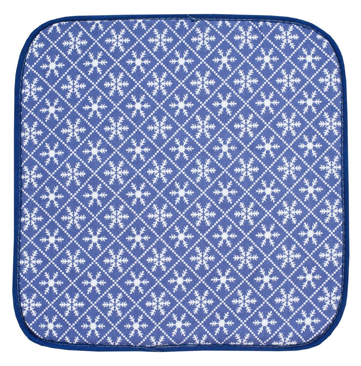 Подушка на стул Snezhinki Sinie (40х40) фото