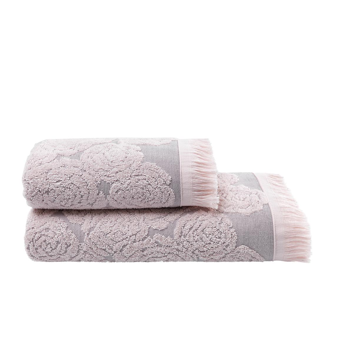 Купить Полотенца Arya, Полотенце Nadine Цвет: Розовый (50х90 см), Турция, Жаккард