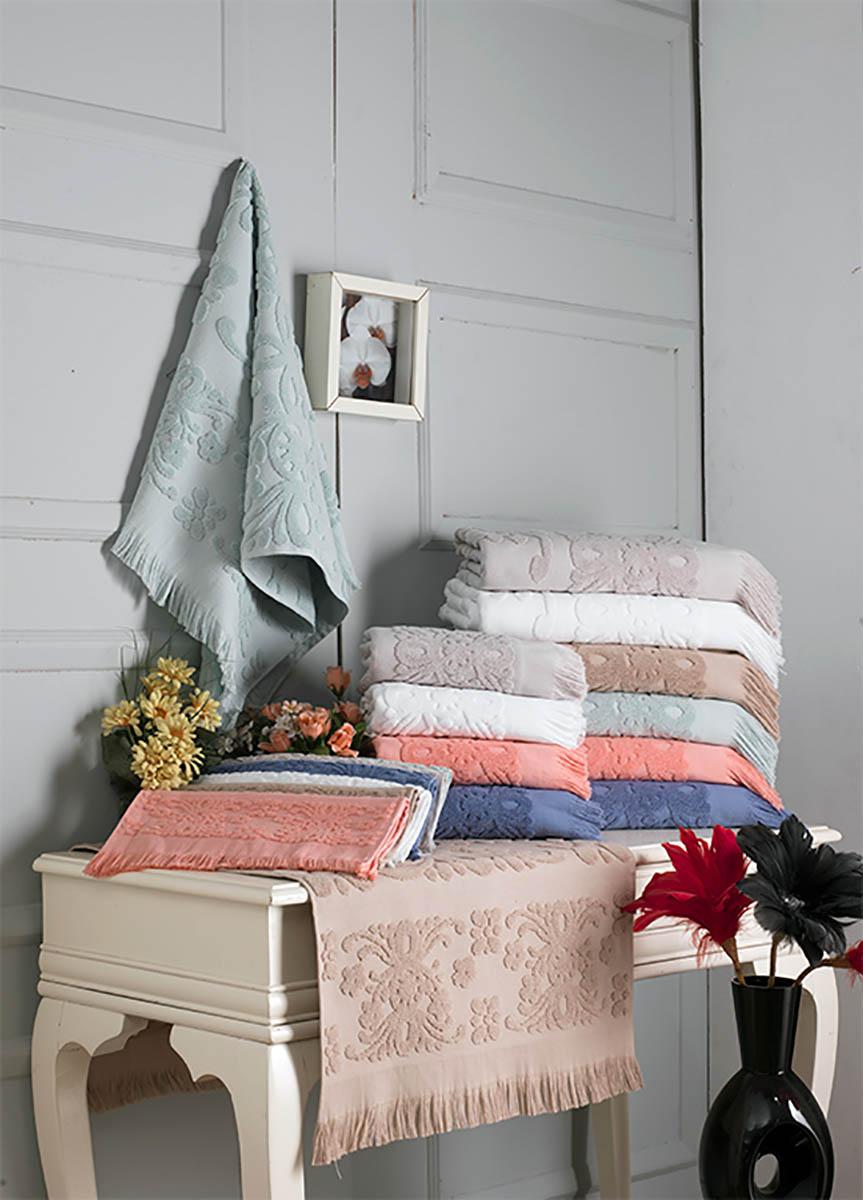 Купить Полотенца Arya, Полотенце Soft Цвет: Экрю (70х140 см), Турция, Бежевый, Махра