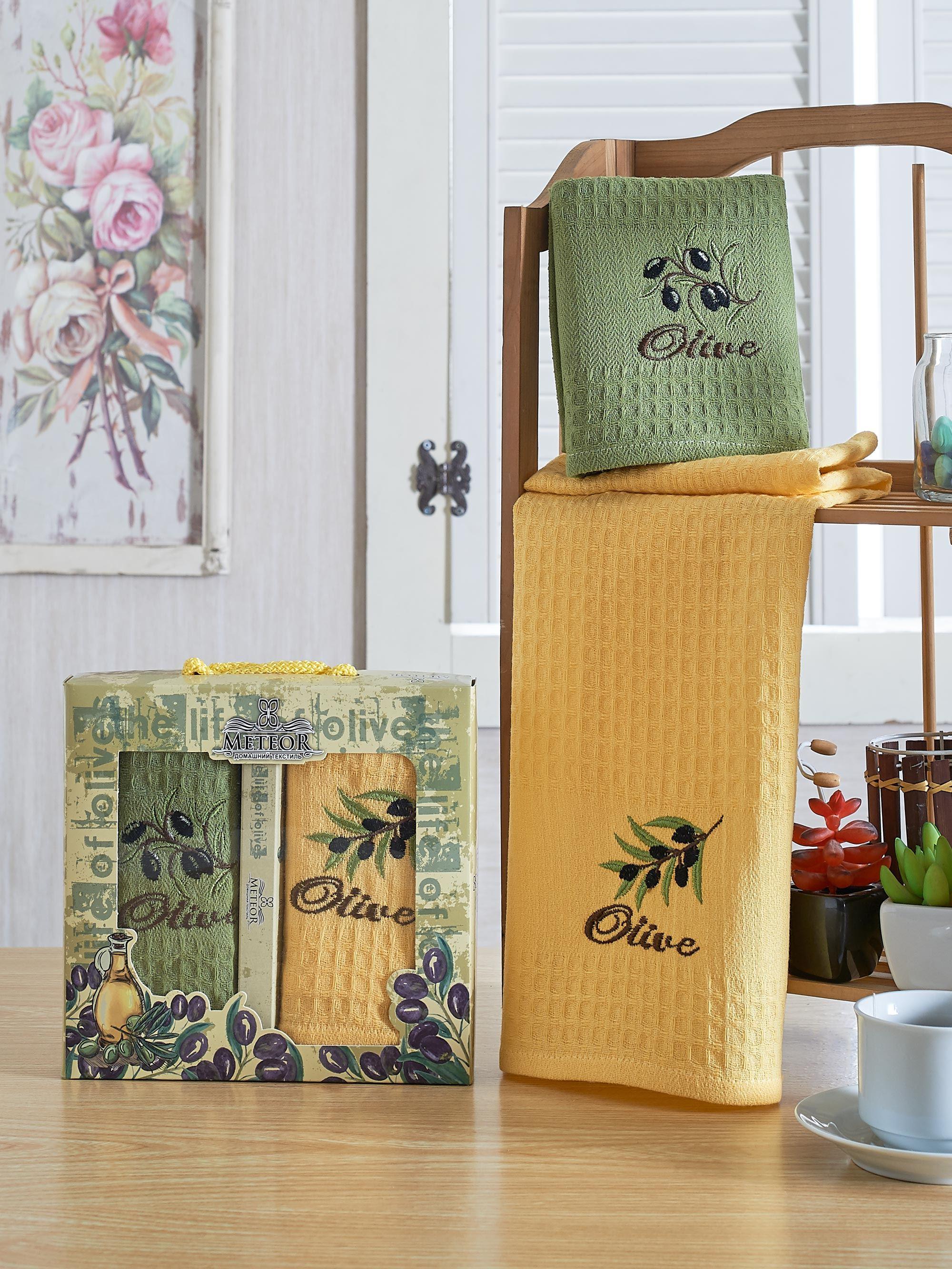 Полотенца Meteor Кухонное полотенце Bionce Olive (40х60 см - 2 шт) bon appetit кухонное полотенце cake цвет голубой 40х60 см 2 шт