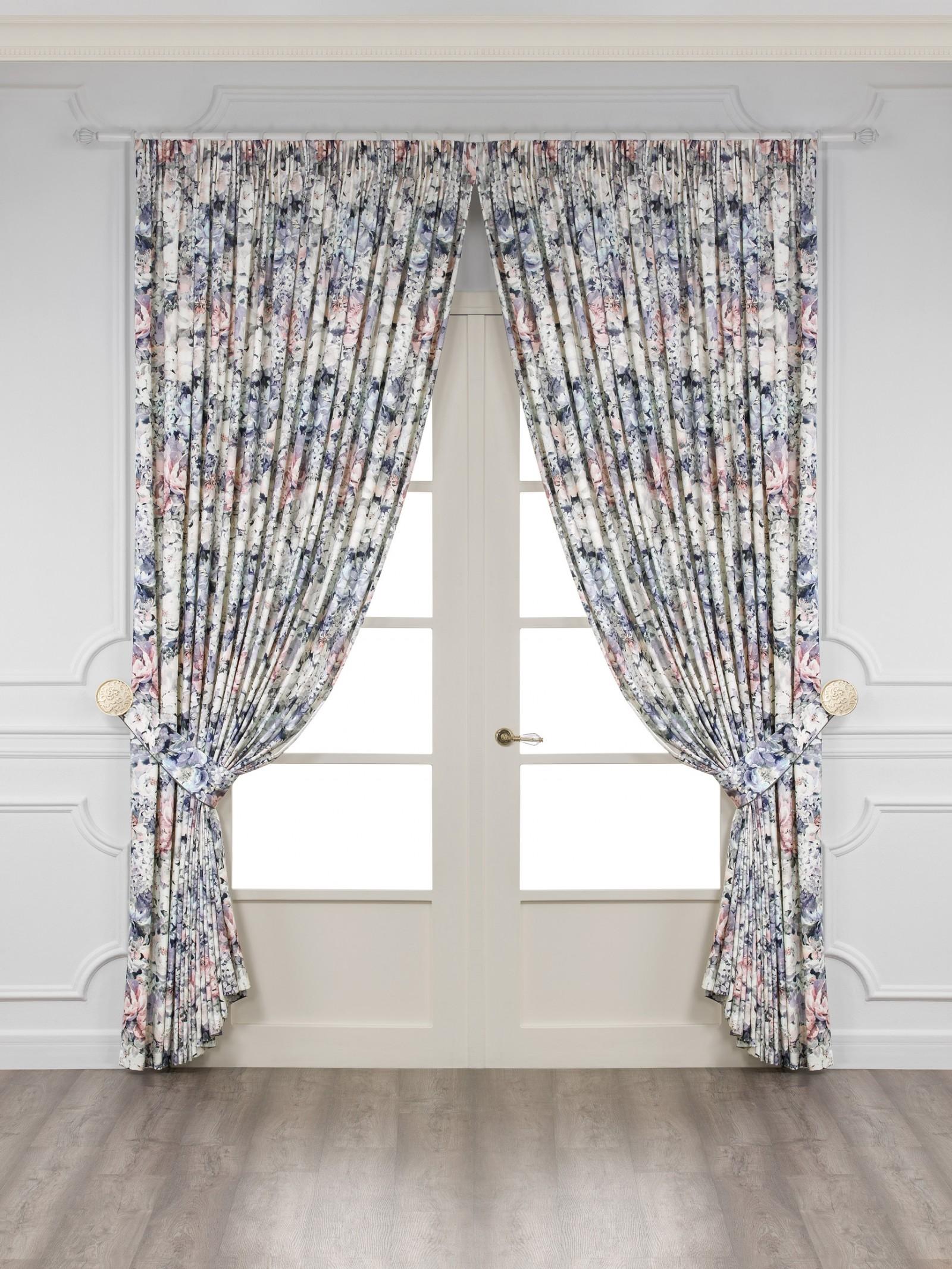 Купить Шторы Togas, Классические шторы Доминик Цвет: Фиолетовый, Греция, Портьерная ткань