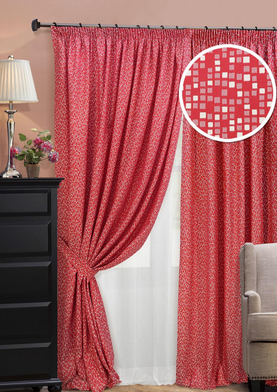 Шторы Kauffort Классические шторы Domino Цвет: Красный