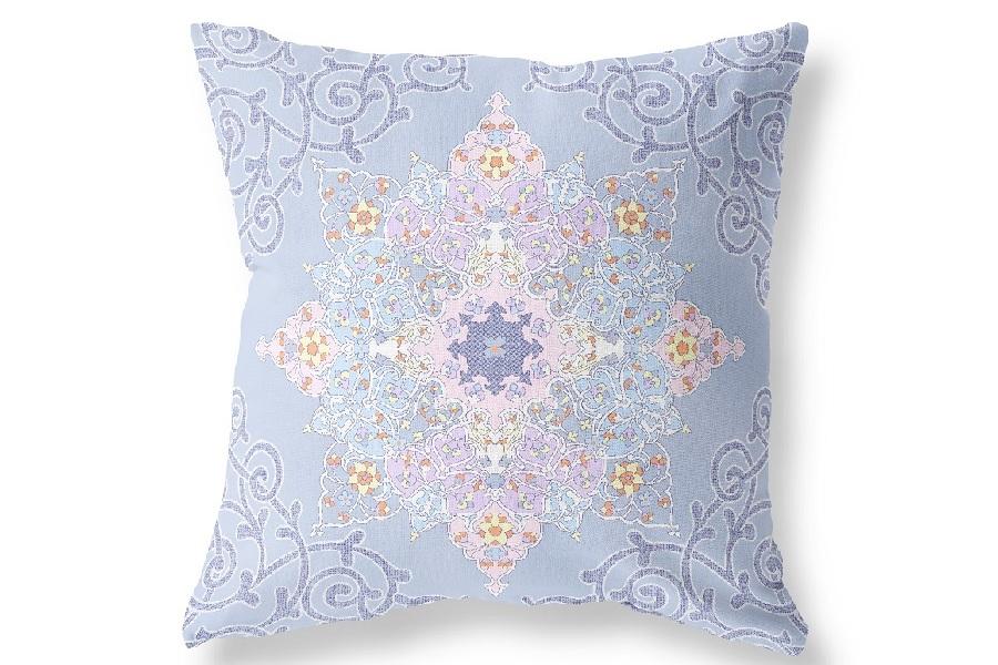 Наволочка Витраж цвет: голубой (70х70 (1 шт))
