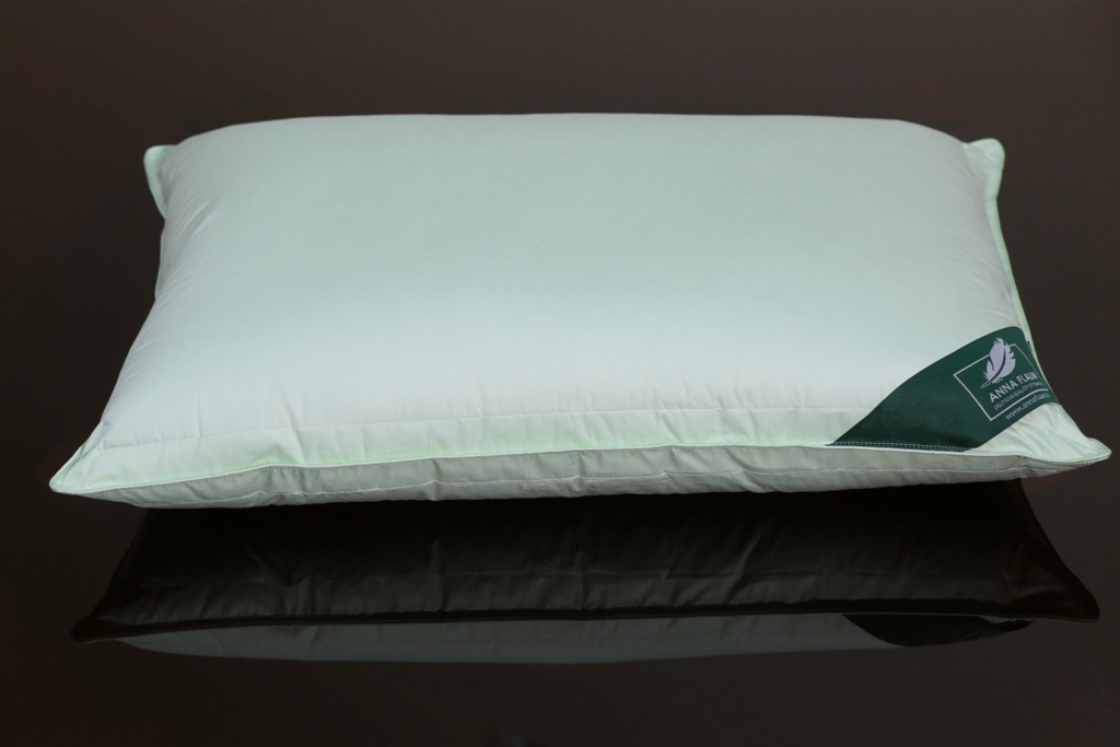 Купить Подушки ANNA FLAUM, Подушка Sommer Упругая (50х70), Германия, Белый, Зеленый, Хлопковый сатин