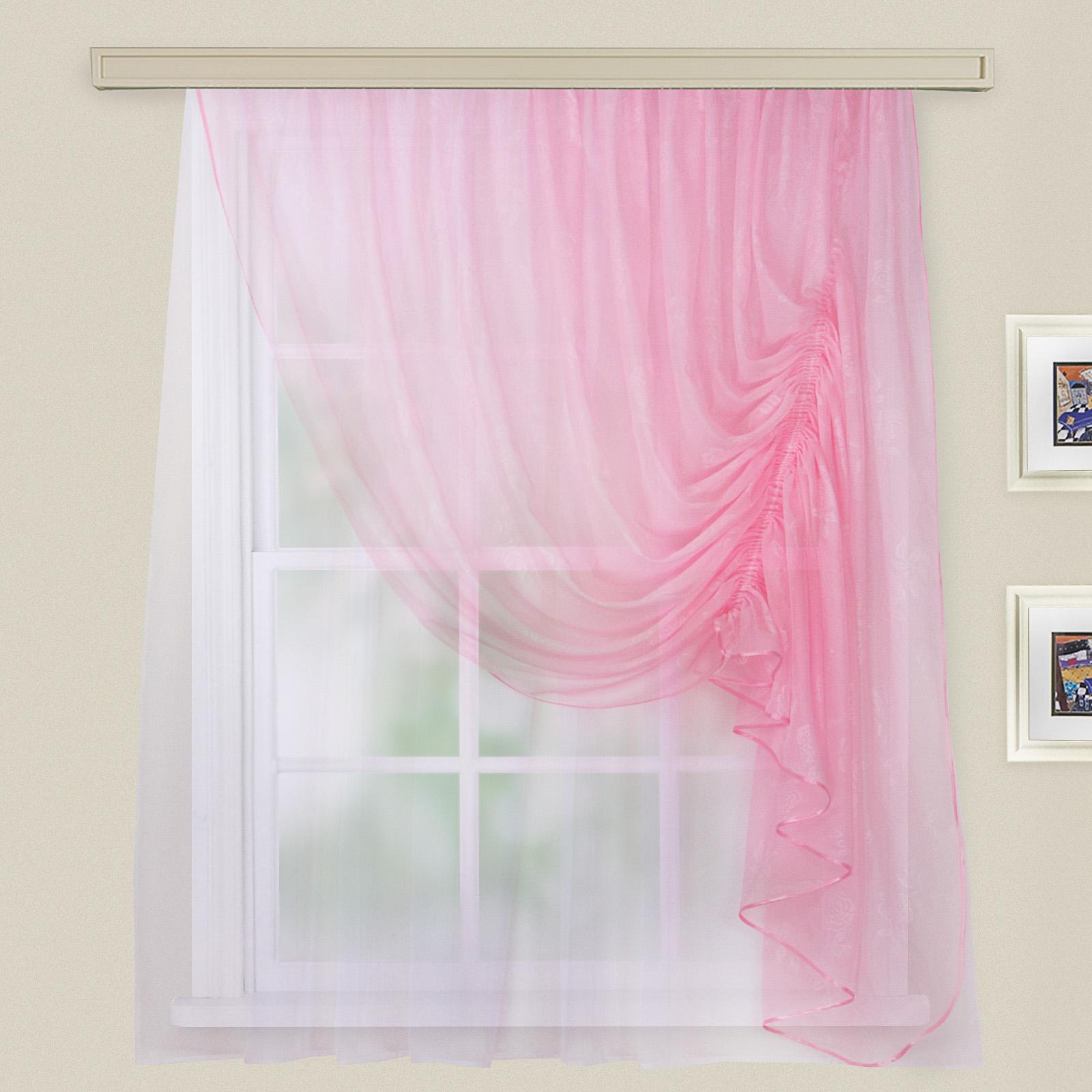 Купить Шторы Witerra, Императорские шторы Муза Цвет: Светло-Розовый, Россия, Вуаль