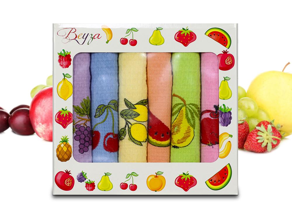 Купить Полотенца Beyza, Кухонное полотенце Arianna (50х70 см - 6 шт), Турция, Вафля