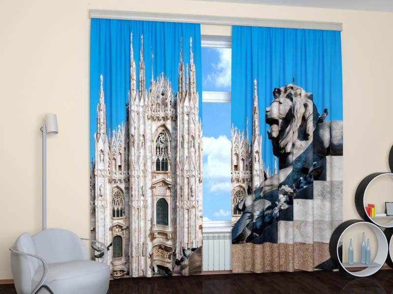 Шторы StickButik Фотошторы Миланский Собор