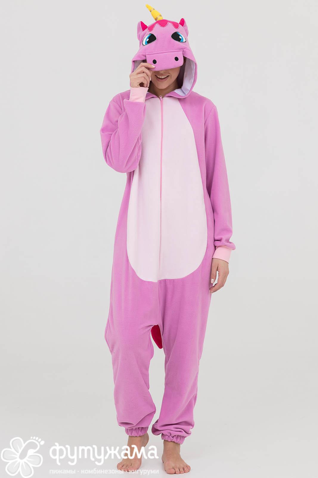 Детская пижама-кигуруми Единорог Лиловый (4-6 лет) фото
