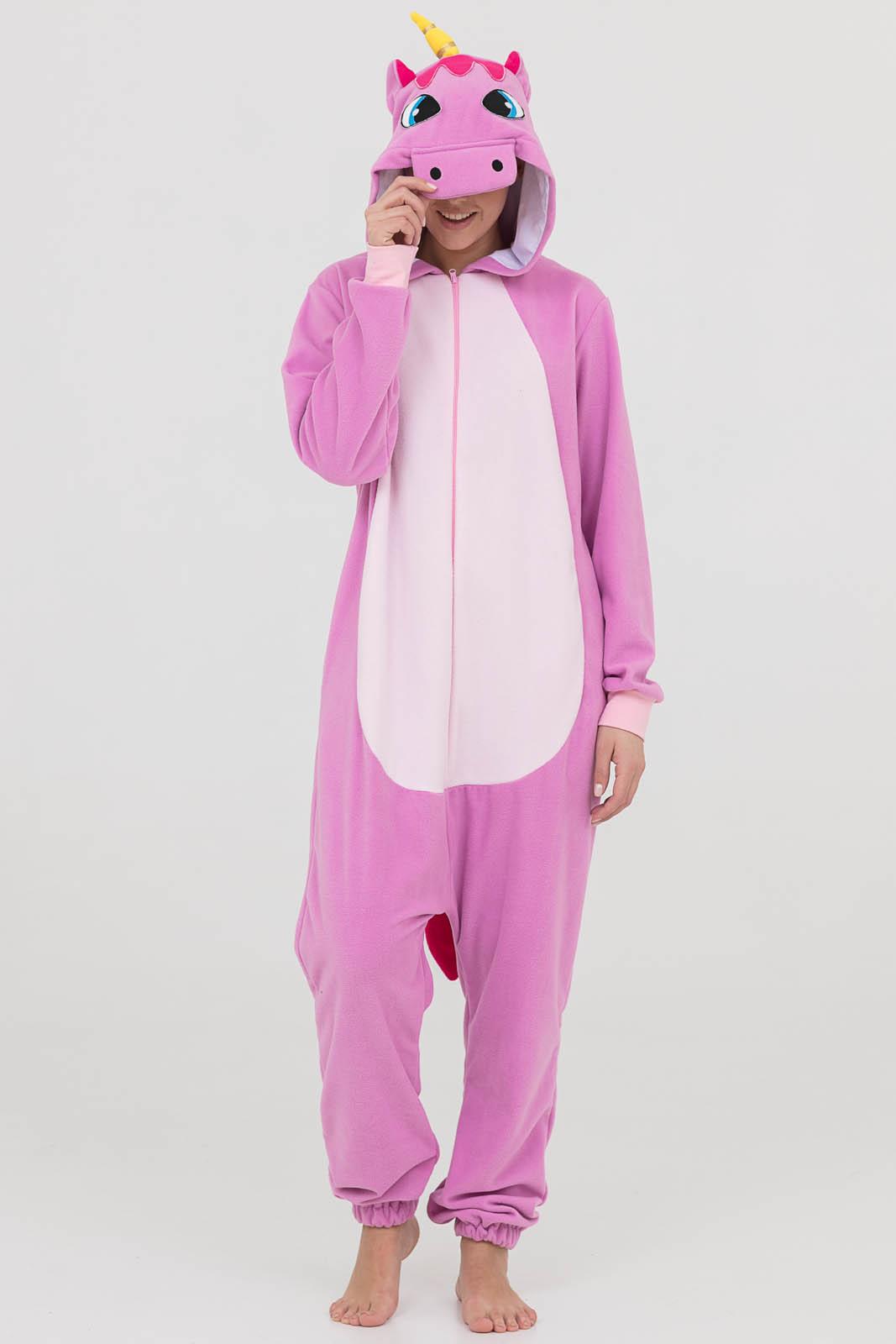 Пижама-кигуруми Единорог Цвет: Лиловый (52-54) фото