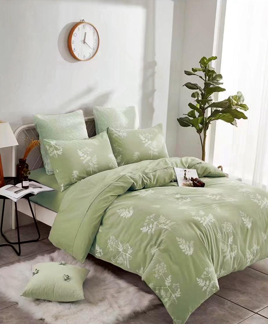 Купить Комплекты постельного белья Tango, Постельное белье Ashton (2 сп. евро), Китай, Зеленый, Хлопковый сатин