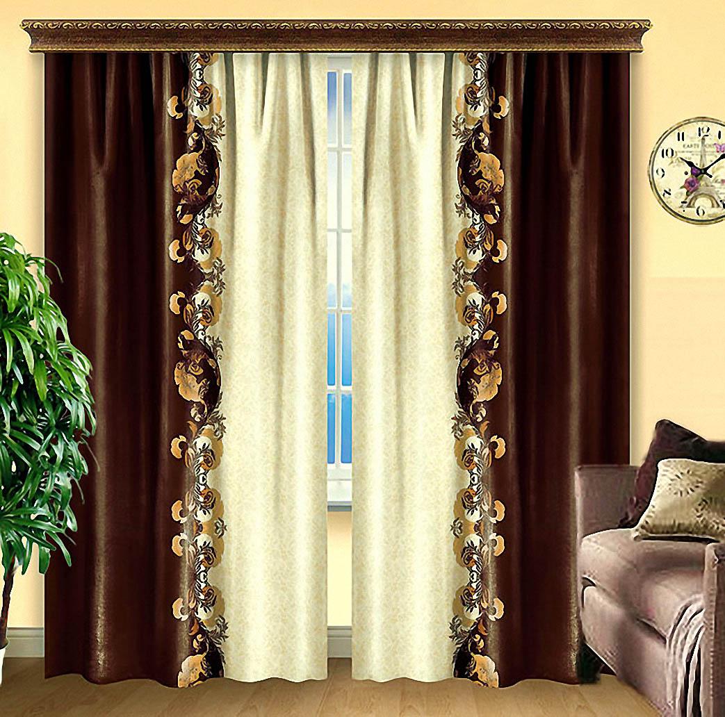 Купить Шторы Elegante, Классические шторы Nydia, Китай, Атлас