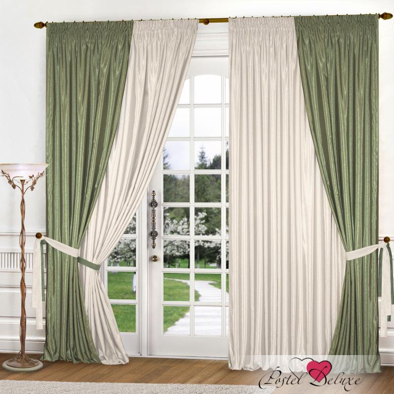 Купить Шторы Elegante, Классические шторы Миллениум Цвет: Оливковый, Молочный, Китай, Бежевый, Зеленый, Атлас