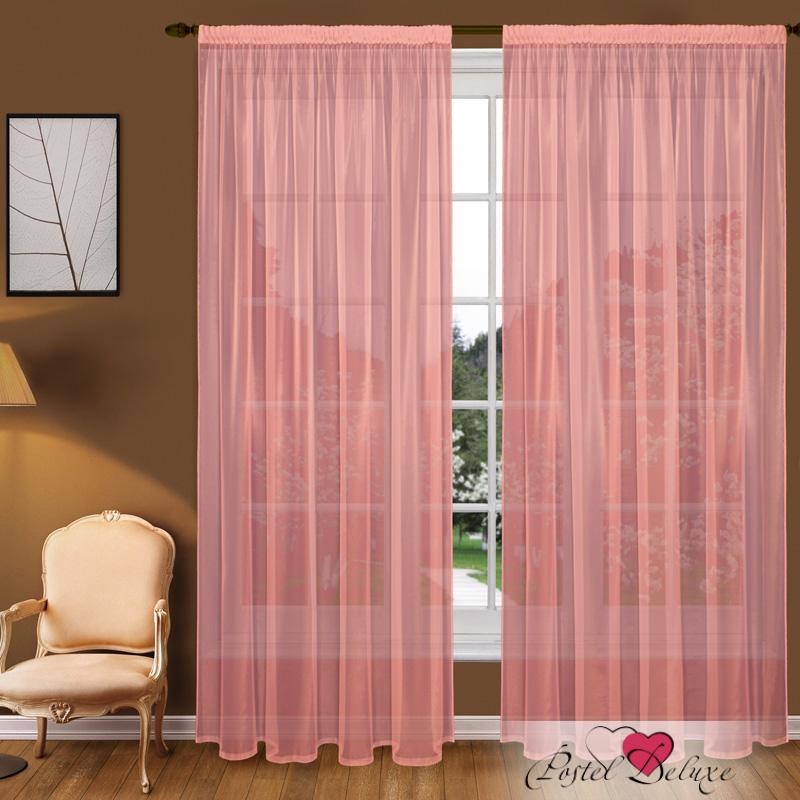 Купить Шторы Elegante, Классические шторы Catharine Цвет: Коралловый, Китай, Розовый, Вуаль