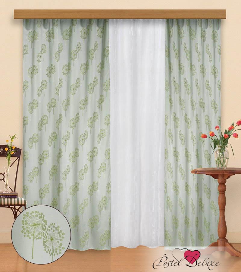 Купить Шторы Elegante, Классические шторы Andee Цвет: Салатовый-Белый, Китай, Белый, Зеленый, Жаккард, Органза, Тафта