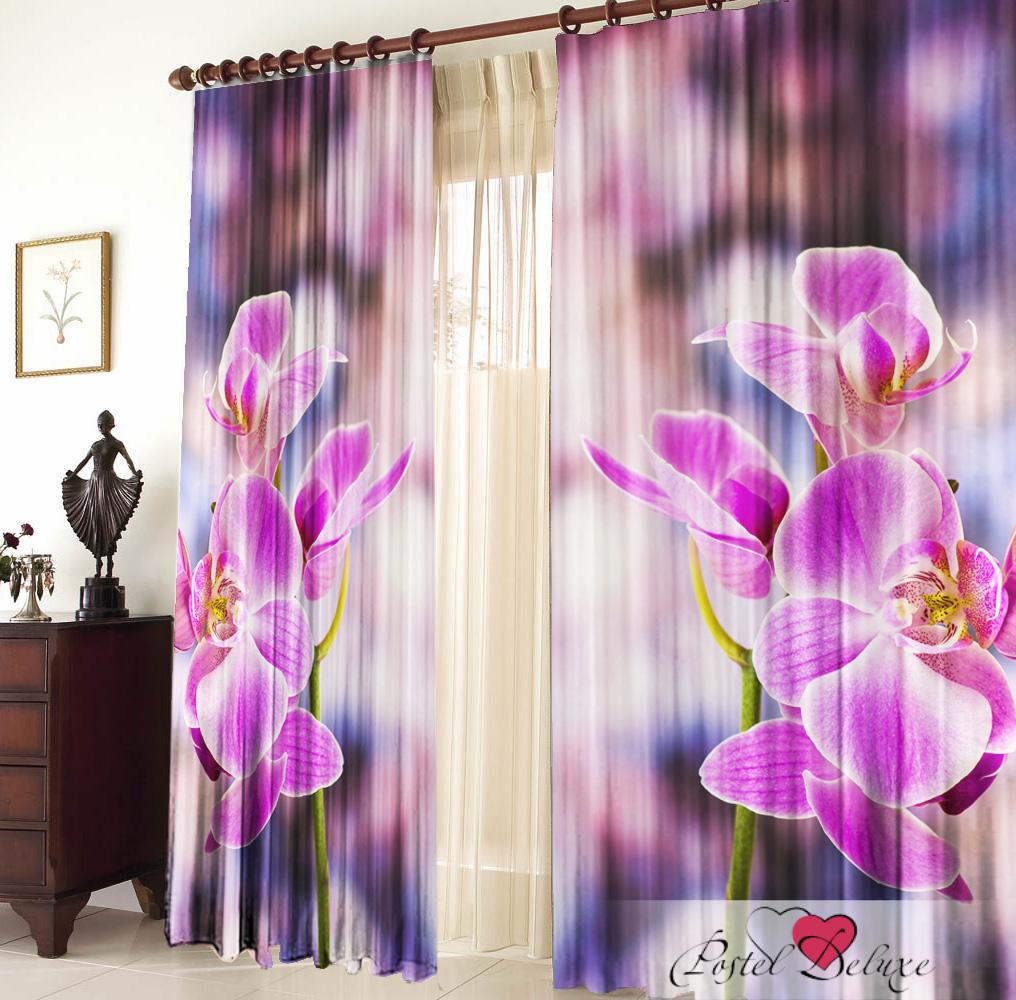 Купить Шторы Elegante, Фотошторы Орхидея, Китай, Сиреневый, Фиолетовый, Габардин