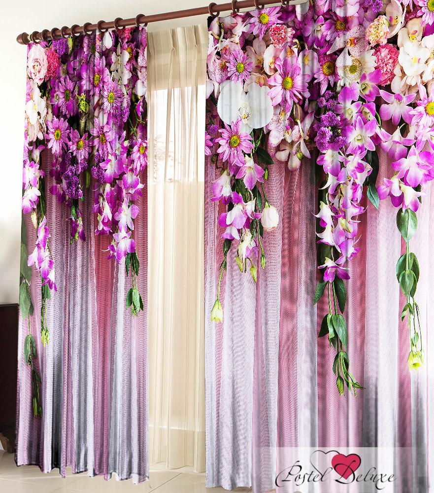 Купить Шторы Elegante, Фотошторы Ламбрекен, Китай, Розовый, Сиреневый, Фиолетовый, Габардин