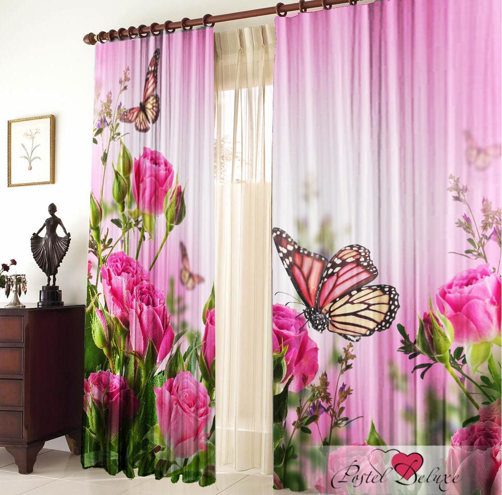 Купить Шторы Elegante, Фотошторы Лето, Китай, Розовый, Сиреневый, Габардин