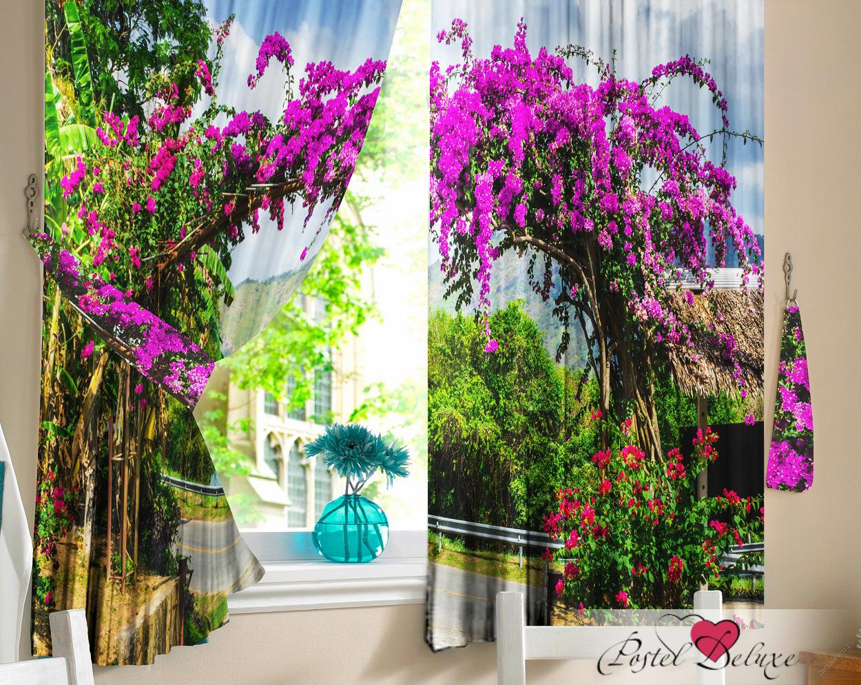 Купить Шторы Elegante, Фотошторы Цветочная Арка, Китай, Сиреневый, Габардин