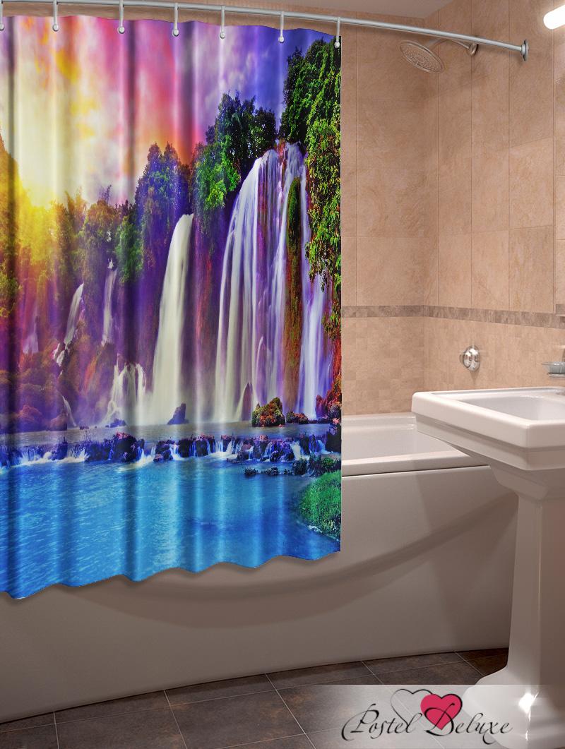 Купить Шторы и карнизы Elegante, Фотошторы для ванной Водопад, Китай, Сиреневый, Оксфорд