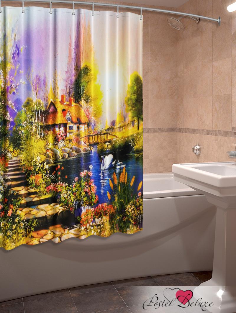 Купить Шторы и карнизы Elegante, Фотошторы для ванной Деревенский Пейзаж, Китай, Желтый, Оксфорд