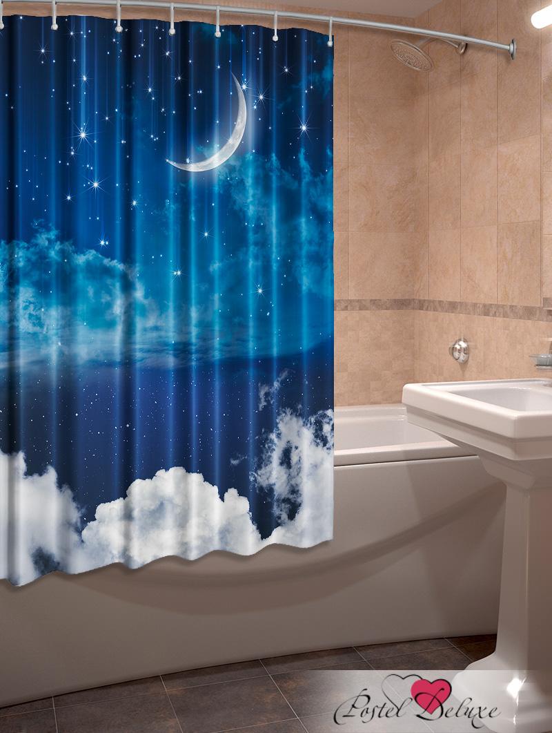 Купить Шторы и карнизы Elegante, Фотошторы для ванной Звездопад, Китай, Синий, Оксфорд