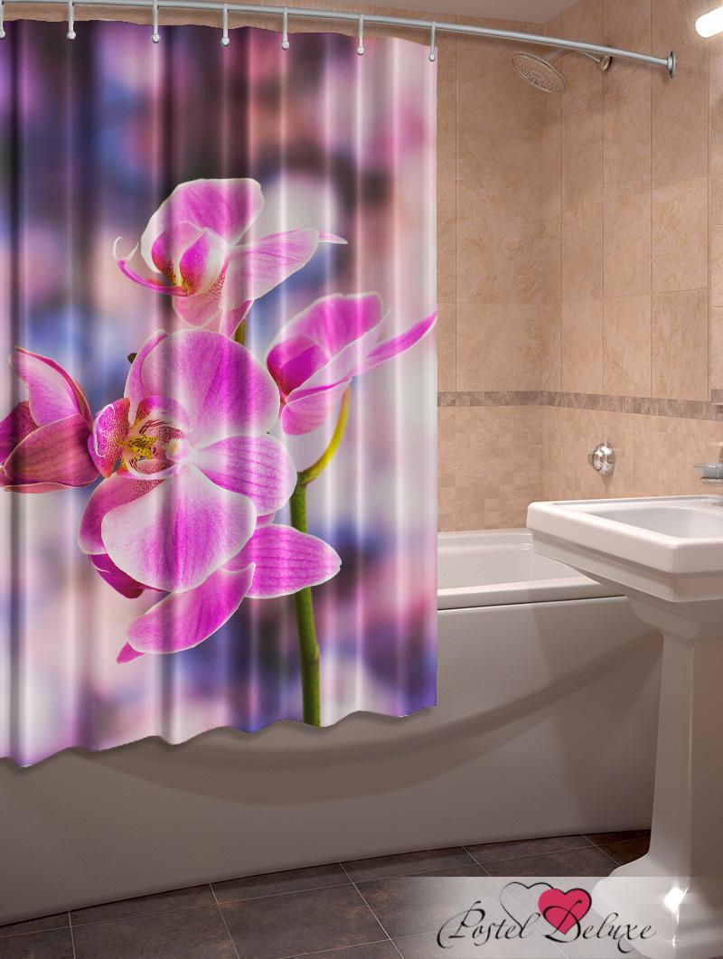 Купить Шторы и карнизы Elegante, Фотошторы для ванной Орхидея, Китай, Сиреневый, Оксфорд