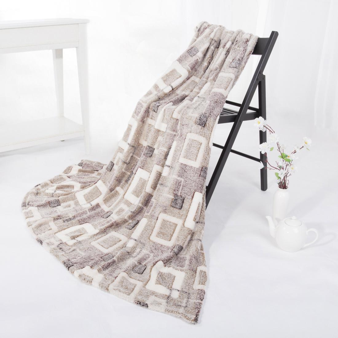 Купить Пледы и покрывала Eleganta, Плед Квадраты (180х200), Китай, Бамбуковый флис