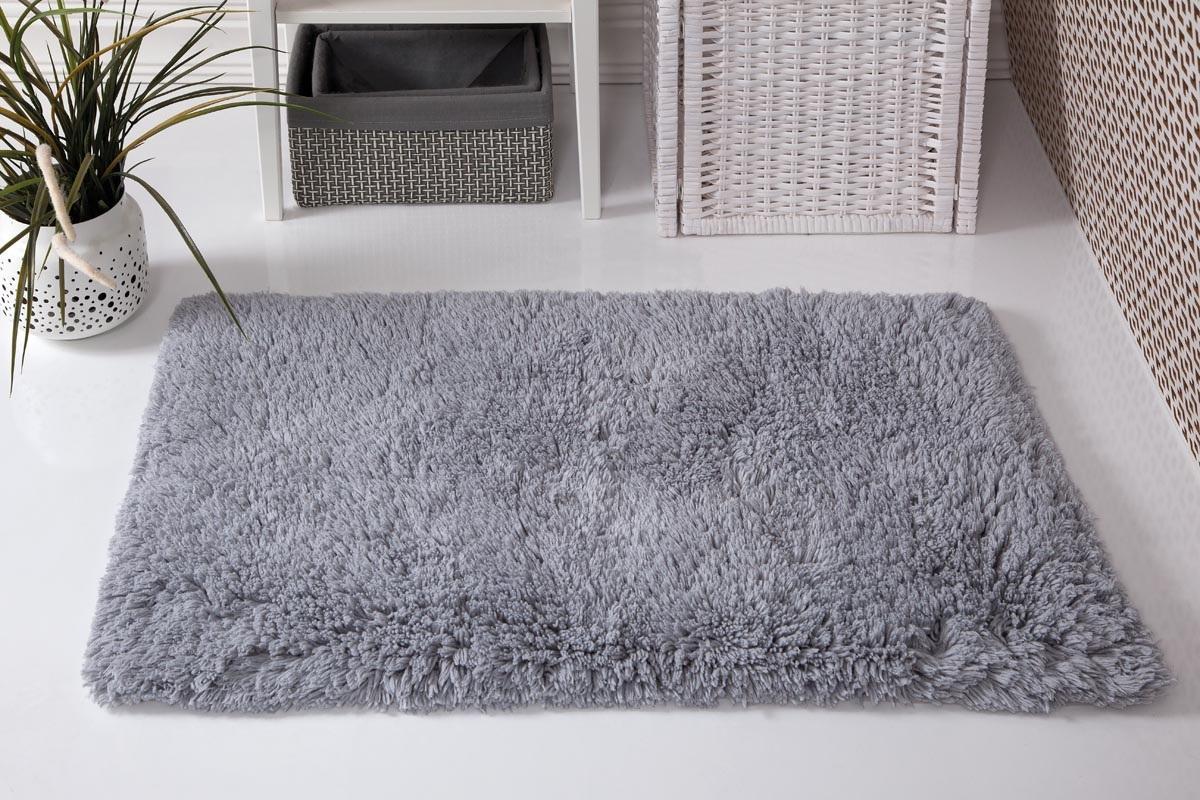 Купить Коврики для ванной и туалета Modalin, Коврик для ванной Boliv Цвет: Серый (50х80 см), Россия-Турция, Хлопковая махра