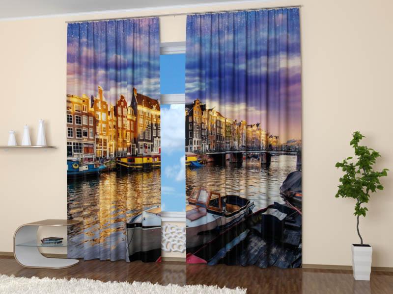 Шторы StickButik Фотошторы Воды Амстердама
