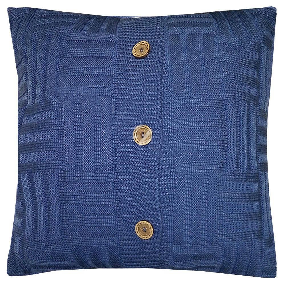 Купить Декоративные подушки Apolena, Декоративная наволочка Royal Blue Quadro (45х45), Россия-Турция, Вязаный акрил