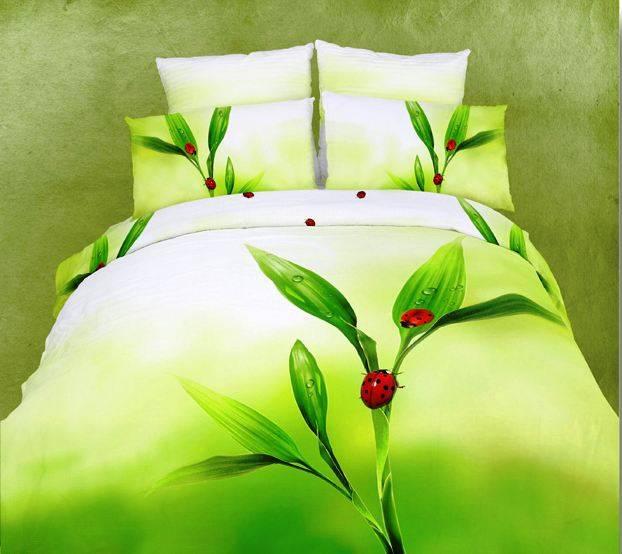 Купить Комплекты постельного белья Famille, Постельное белье Justice V3 (2 сп. евро), Китай, Зеленый, Хлопковый сатин