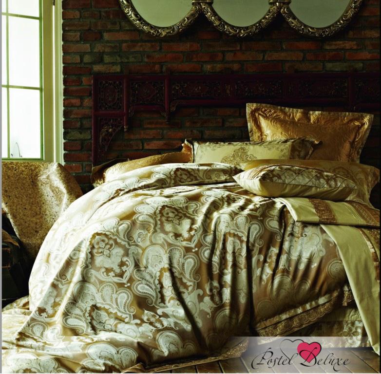 Купить Комплекты постельного белья Famille, Постельное бельеFaustineV6 (2 сп. евро), Китай, Золотой, Коричневый, Хлопковый сатин