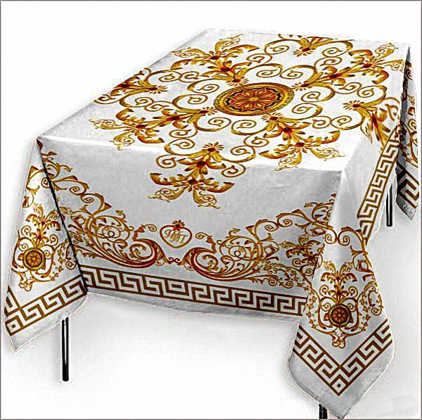 Скатерти и салфетки Elegante Скатерть Феникс Цвет: Белый (120х150 см) скатерти и салфетки elegante скатерть symphony цвет белый круглая 175 см