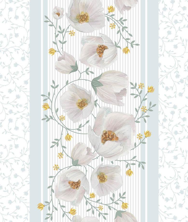 Купить Полотенца Романтика, Кухонное полотенце Аромат Жасмина (50х70 см - 2 шт), Россия, Белый, Голубой, Вафля