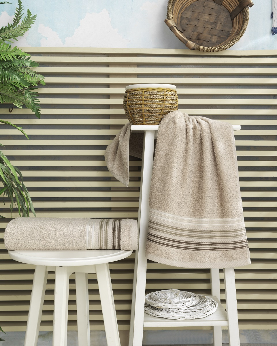 Купить Полотенца Karna, Полотенце Paula Цвет: Бежевый (70х140 см), Турция, Махра