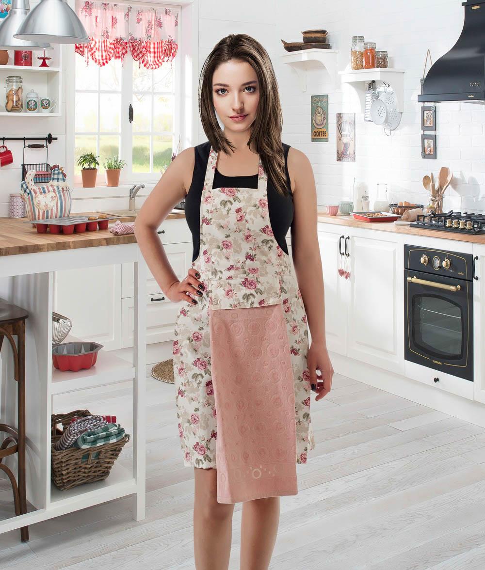 Полотенца Karna Кухонный набор Jools Цвет: Пудра