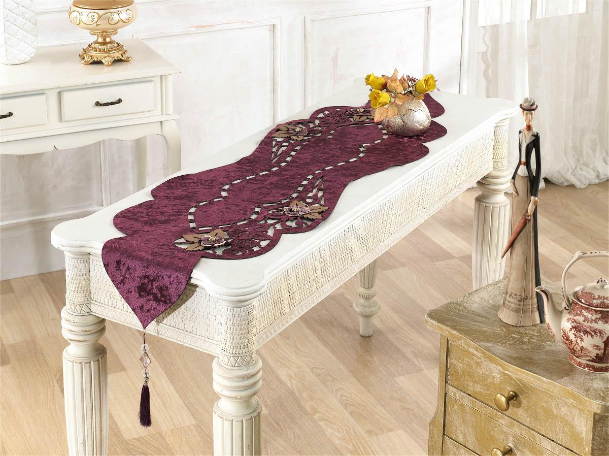 Скатерти и салфетки Finezza Дорожка на стол Eva Цвет: Фиолетовый (40х140 см)
