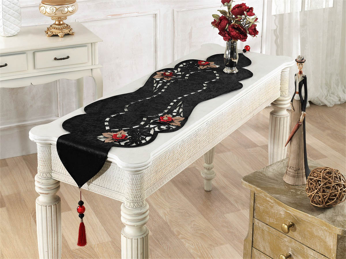 Скатерти и салфетки Finezza Дорожка на стол Eva Цвет: Черный (40х140 см)