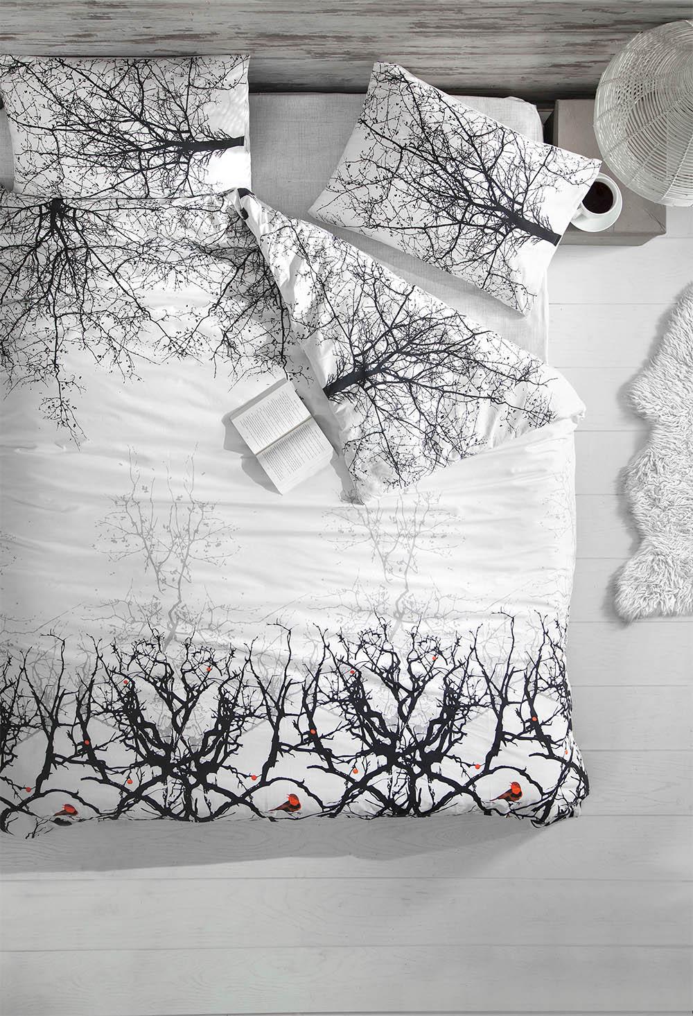 Комплекты постельного белья Altinbasak, Постельное белье Pio (2 сп. евро), Турция, Черно-белый, Бязь  - Купить