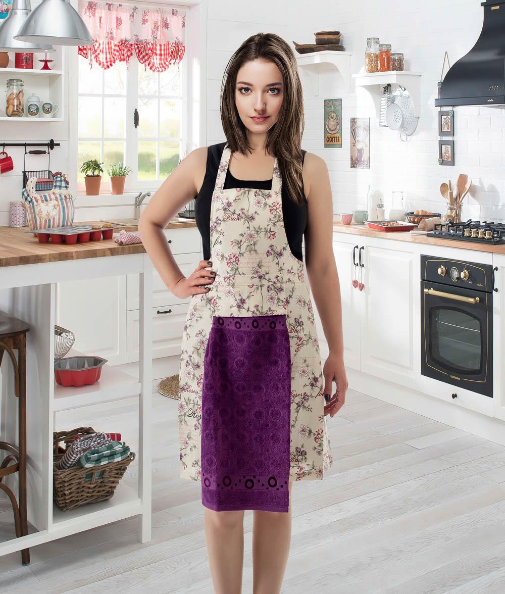 Полотенца Karna Кухонный набор Jools Цвет: Фиолетовый