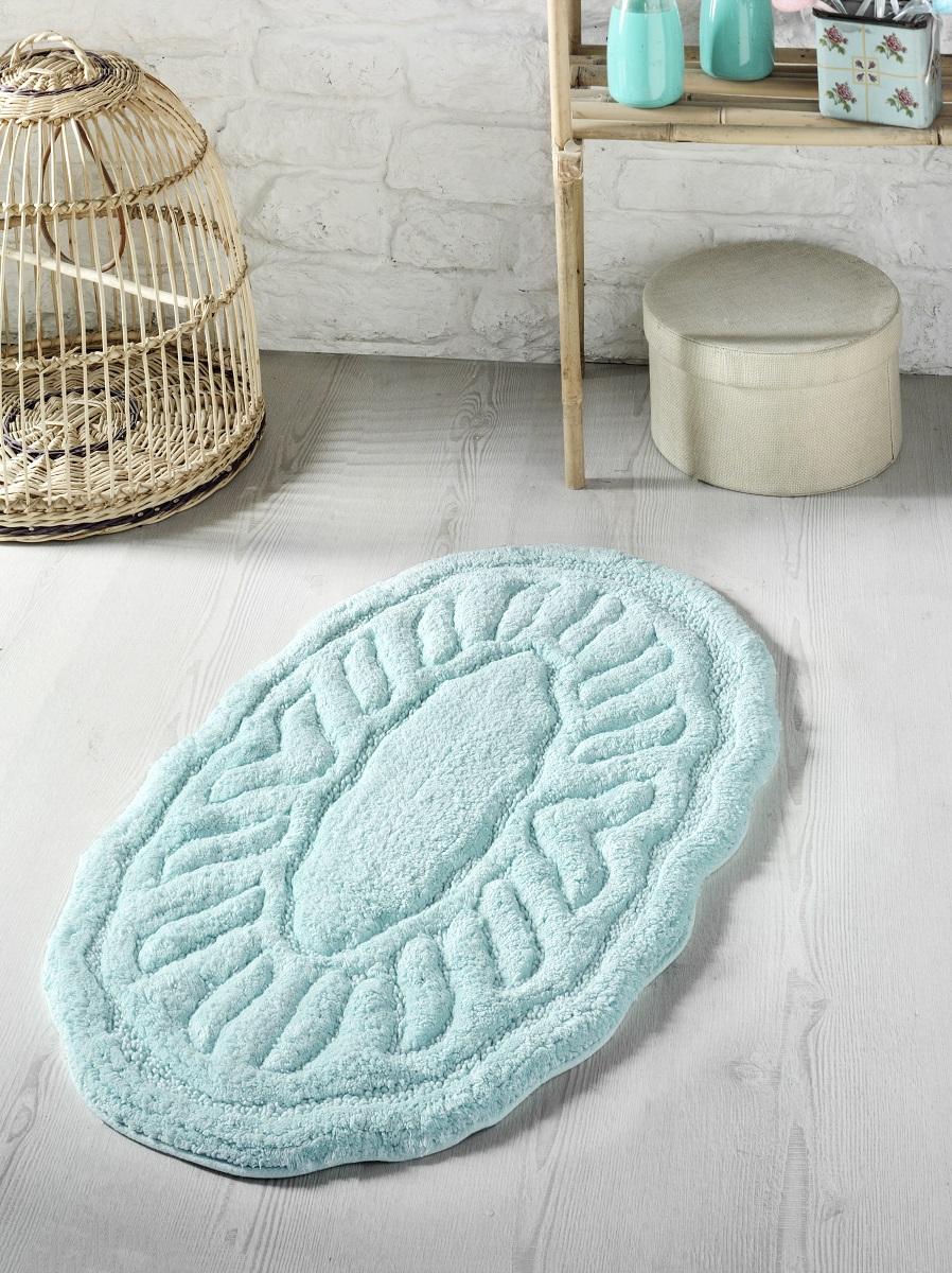 Купить Коврики для ванной и туалета Modalin, Коврик для ванной Wenge Цвет: Зеленый (50х80 см), Россия-Турция, Хлопковая махра