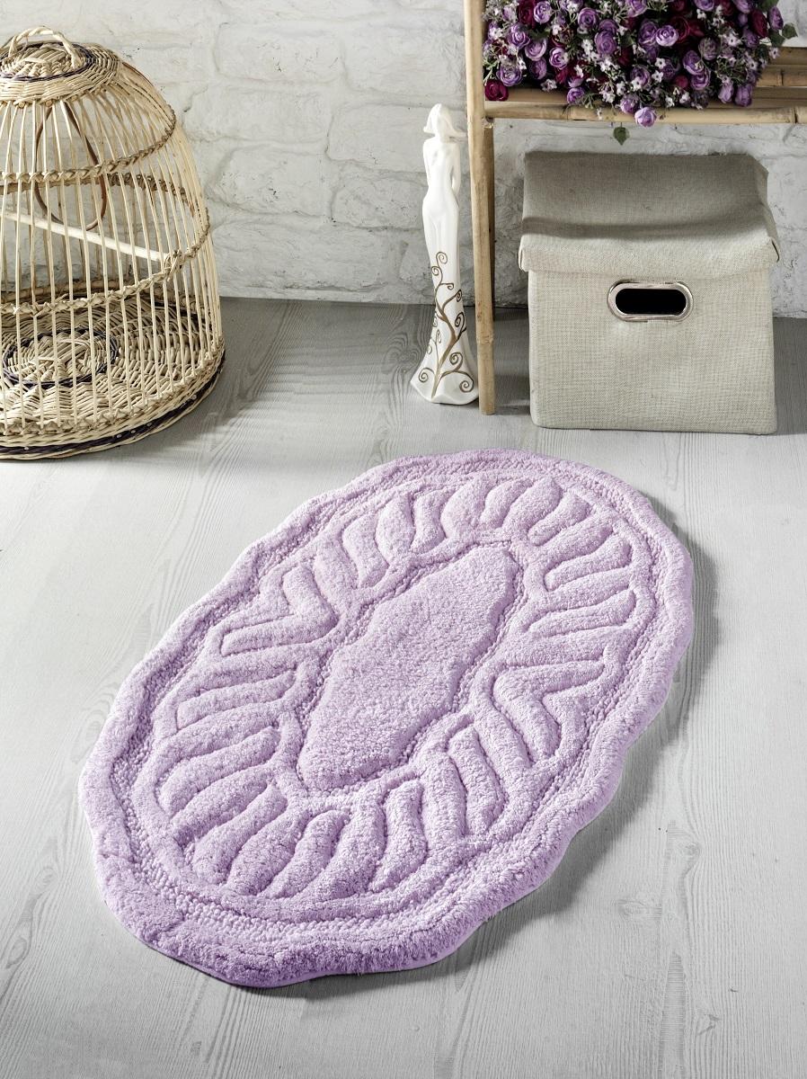 Купить Коврики для ванной и туалета Modalin, Коврик для ванной Wenge Цвет: Сиреневый (50х80 см), Россия-Турция, Хлопковая махра