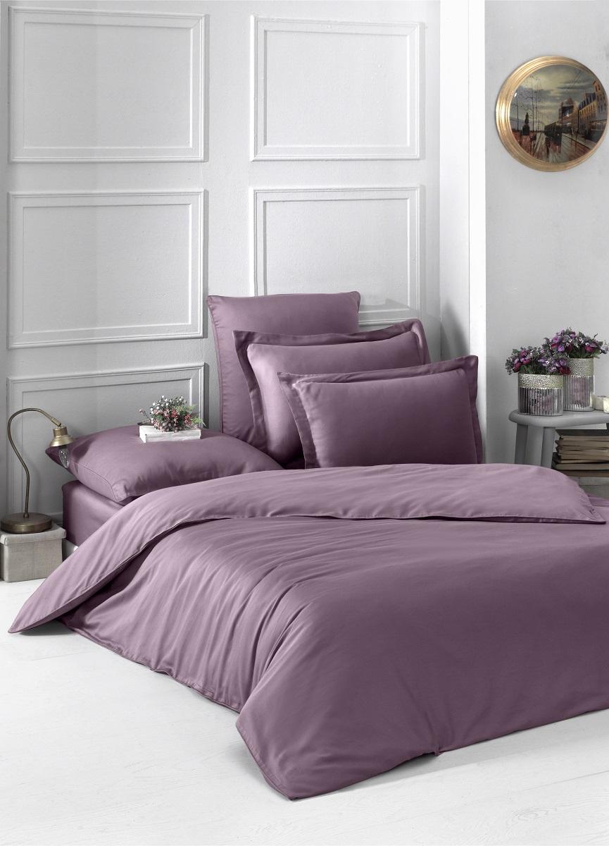 Купить Комплекты постельного белья Karna, Постельное белье Loft Цвет: Грязно-Розовый (1, 5 спал.), Турция, Хлопковый сатин