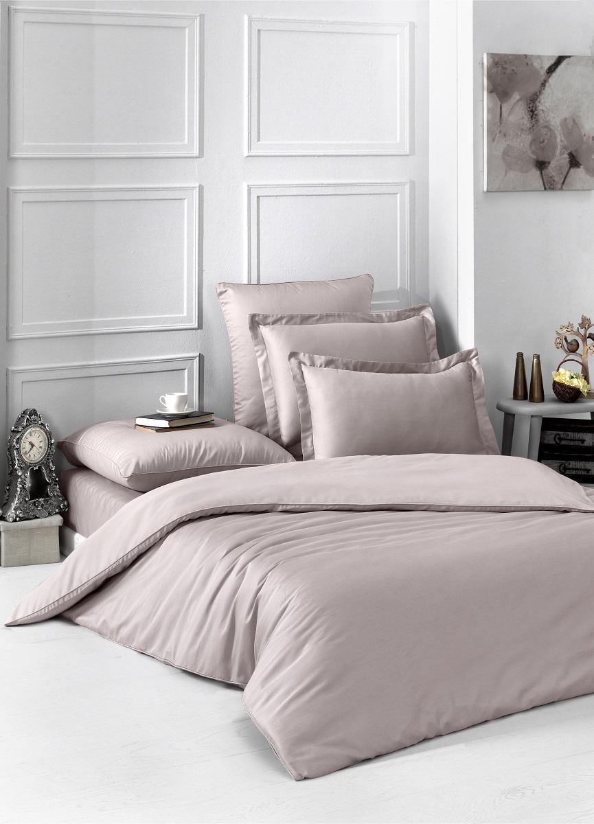 Купить Комплекты постельного белья Karna, Постельное белье Loft Цвет: Капучино (2 сп. евро), Турция, Хлопковый сатин
