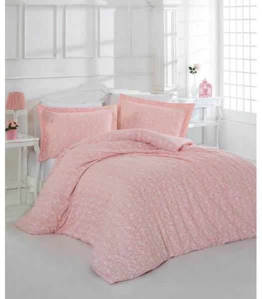 Купить Комплекты постельного белья Altinbasak, Постельное белье Prety Цвет: Розовый (2 сп. евро), Турция, Хлопковый сатин